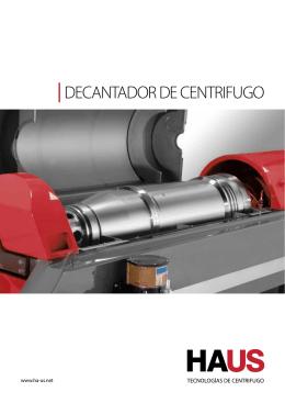 DECANTADOR DE CENTRIFUGO