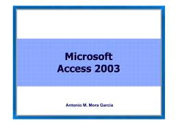 Introducción a Access 2003