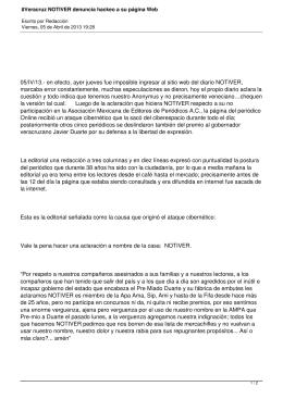 #Veracruz NOTIVER denuncia hackeo a su página Web