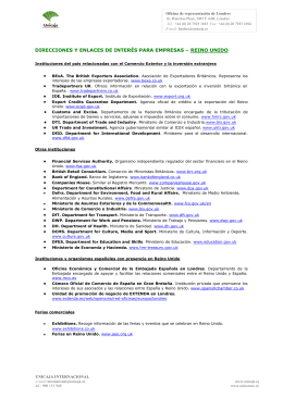 Direcciones y enlaces de interés para empresas - Reino