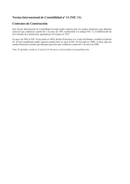 Contratos de construcción - Normas Internacionales de Contabilidad