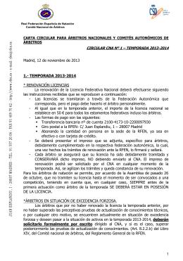 Circular nº 1 - Real Federación Española de Natación