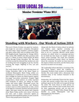Standing with Workers - Our Week of Action 2014