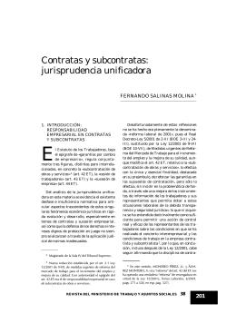 Contratas y subcontratas: jurisprudencia unificadora