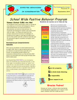School Wide Positive Behavior Program
