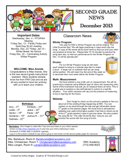 SECOND GRADE NEWS December 2013