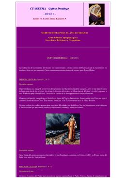 V Domingo de Cuaresma, Ciclo C. San Juan 8,1-11