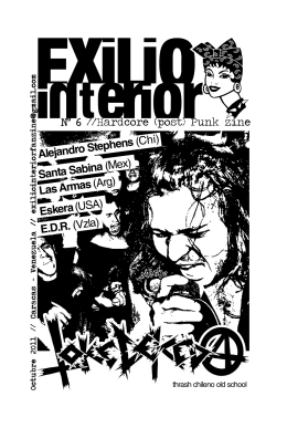 Nº 6 //Hardcore (post) Punk zine
