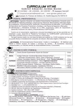 Curriculum Gabriel Jordan - Página personal de >>>> Gabriel Jordan