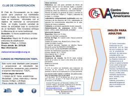 cursos para adultos y especiales – octubre 2015