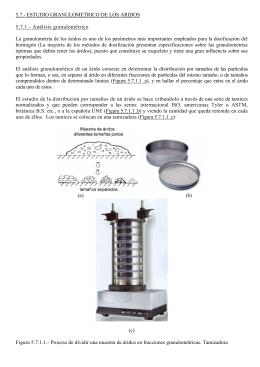 5.7.- ESTUDIO GRANULOMETRICO DE LOS ARIDOS 5.7.1