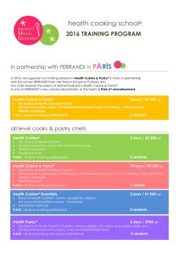 health cooking school® - Institut Michel Guérard