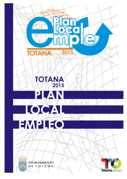 plan local empleo 2015 - Ayuntamiento de Totana