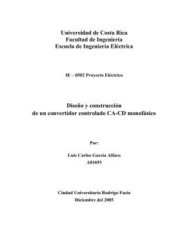 Diseo y construccin convertidor AC-DC monofsico