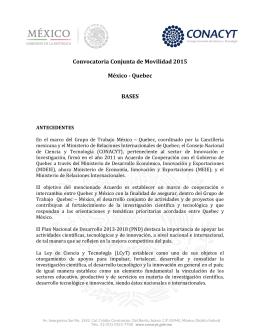 Convocatoria Conjunta de Movilidad 2015 México