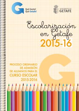 CURSO ESCOLAR 2015-2016 - Ayuntamiento de Getafe