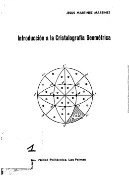 Introducción a la Cristalografía Geométrica <L