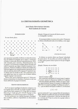 la cristalografía geométrica - Real Academia de Ciencias Exactas