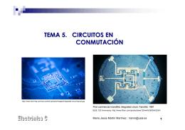 TEMA 5. CIRCUITOS EN CONMUTACIÓN
