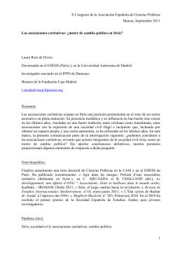 X Congreso de la Asociación Española de Ciencias