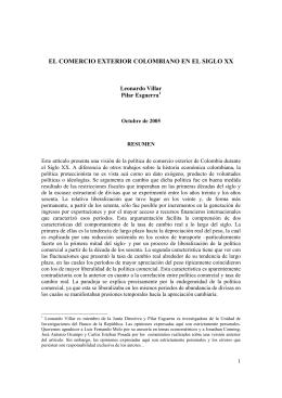 el comercio exterior colombiano en el siglo xx