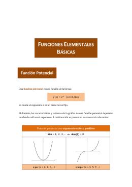 Funciones elementales básicas