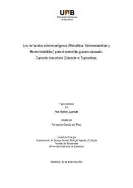 Los nematodos entomopatógenos (Rhabditida: Steinernematidae y