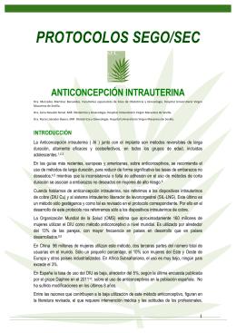 Anticoncepción Intrauterina - Sociedad Española de Contracepción