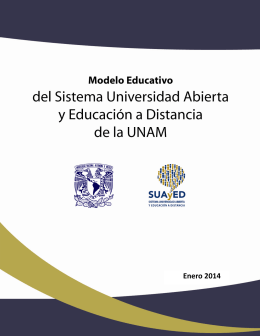 Modelo Educativo del SUAyED - Coordinación de Universidad