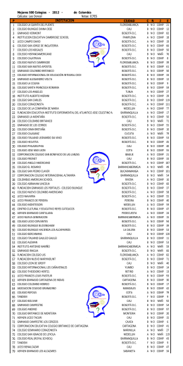 500 Mejores 500 Colegios - 2012 - de Colombia