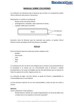 Manual sobre colchones - tienda no encontrada en tiendy