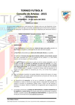 TORNEO FUTBOL 8 Concello de Arteixo - 2015