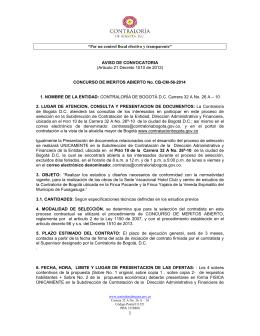 AVISO CONVOCATORIA OBRAS SEDE HOTEL CLUB CB-CM