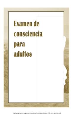 Examen de Conciencia para adultos