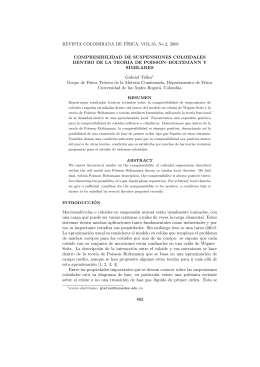 REVISTA COLOMBIANA DE FÍSICA, VOL.35, No.2, 2003