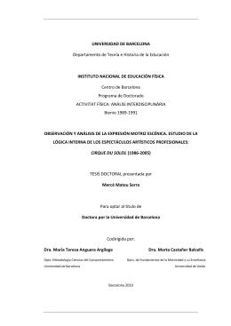 UNIVERSIDAD DE BARCELONA Departamento de Teoría e