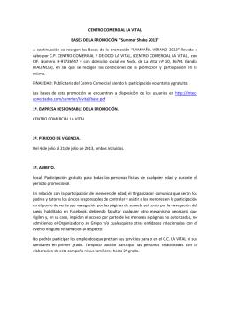 CENTRO COMERCIAL LA VITAL BASES DE LA