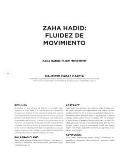 ZAHA HADID: FLUIDEZ DE MOVIMIENTO