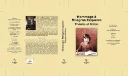 Hommage à Milagros Ezquerro Théorie et fiction