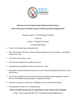 Welcome to the Torrington Early Childhood Collaborative`s Dress for