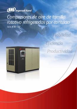 Compresores de aire de tornillo rotativo refrigerados por contacto