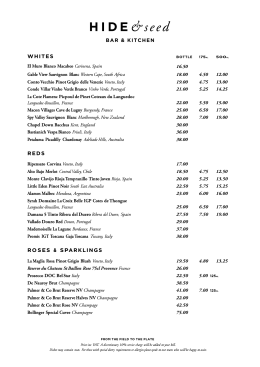 Wine List - The Lodge Hotel