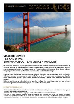 VIAJE DE NOVIOS FLY AND DRIVE SAN FRANCISCO – LAS