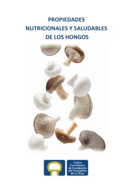 propiedades nutricionales y saludables de los hongos