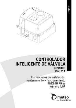 CONTROLADOR INTELIGENTE DE VÁLVULA