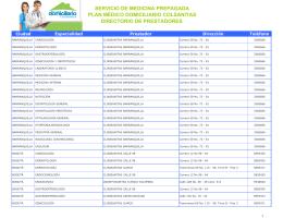 servicio de medicina prepagada plan médico domiciliario colsanitas