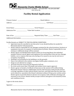 Rental Agreement - Manzanita Charter Middle School