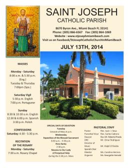 SAINT JOSEPH - St. Joseph Miami Beach