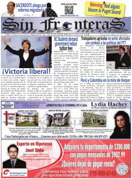 60 Ejemplar del Periodico SinFronterasNews.indd