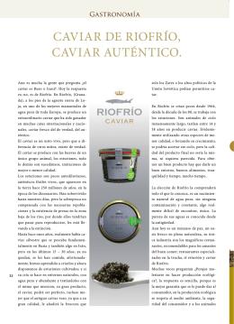 CAVIAR DE RIOFRÍO, CAVIAR AUTÉNTICO.